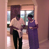 Date:   6/24/98---Arnold and Crystal Johnson of Longview tour one of the Reich Builders homes during the Longview 1998 Parade of Homes. This house is #23 on the tour, located at 1702 Oakmont Circle.  Jessica Williamson