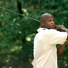 Date:   6/17/98---Larry Centers a fullback with the Arizona Cardinals tees off during the HYPE golf tourney Wednesday afternoon at Wood Hollow Golf Club in Longview. Kevin green