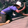 Date:   6/3/98---Jesus Gonzalez roofs a house at 2900 Granite in Longview Wedneday afternoon, Jesus is a roofer with Johnson Roofing of longivew. Kevin green
