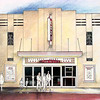 12-21-99--An artist's drawing of the newly remodeled Cozy Theater in Gladewater.Kevin GReen