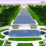 2/13/99---An artist rendering of the WWII memorial in Washington. copy photo