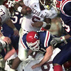 9/4/99---Texas A&M's #5 Ja'Mar Toombs runs with the ball against LA Tech Saturday night in Shreveport. Kevin green
