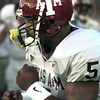 9/4/99---Texas A&M Ja'Mar Toombs prepares to play Saturday night against LA Tech in Shreveport. Kevin green