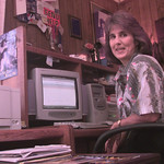 8/18/99---Alsobrook at her work station in her home in Gilmer. Kevin green