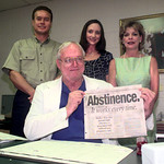 6/8/00 From Left to Right, Mark Young, Tanya Waite, Michelle Trich, and Sitting Dr. John Kirk were part of getting an abstinence grant from the state.